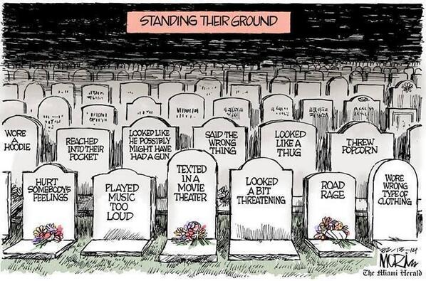 The power of a great cartoonist: Standing Their Ground by Jim Morin of The Miami Herald. http://t.co/oXcL2fSQhu