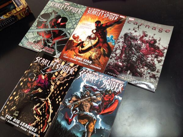 The complete series!  26 issues, a couple of crossovers... Not too shabby. http://t.co/SN2YhFdaWY