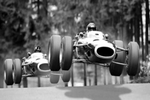 Jackie Stewart and Graham Hill show at the old Nurburgring what made me dream of racing in F1 and against my idols. http://t.co/ldkovix5Te