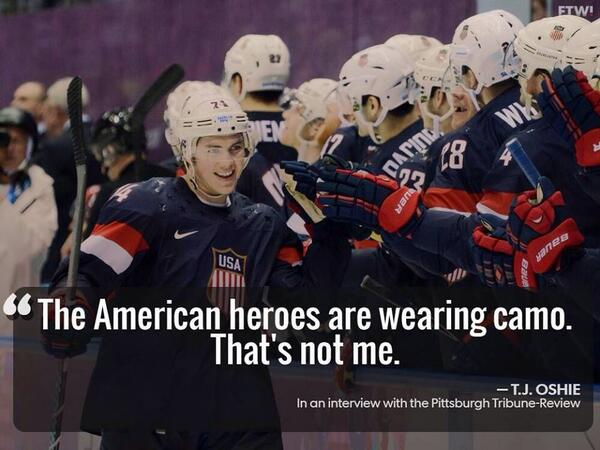 Washington state athlete TJ Oshie with the outstanding quote of the Olympics... http://t.co/QTFRt7h92b