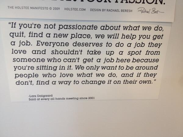 Seen on the wall @SuccessFactors last week. Words to live by @larsluv http://t.co/IubeR2jLA9