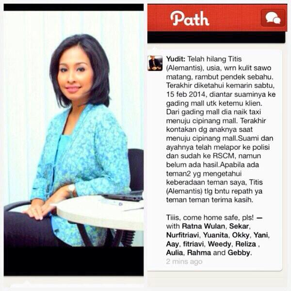 Sahabat.. Tolong bantu Retweet ya.. @alexsriewijono @noveldy @dr_Phaidon @drtiwi @pemulihanjiwa Thank You.. http://t.co/NmI40zlMeu