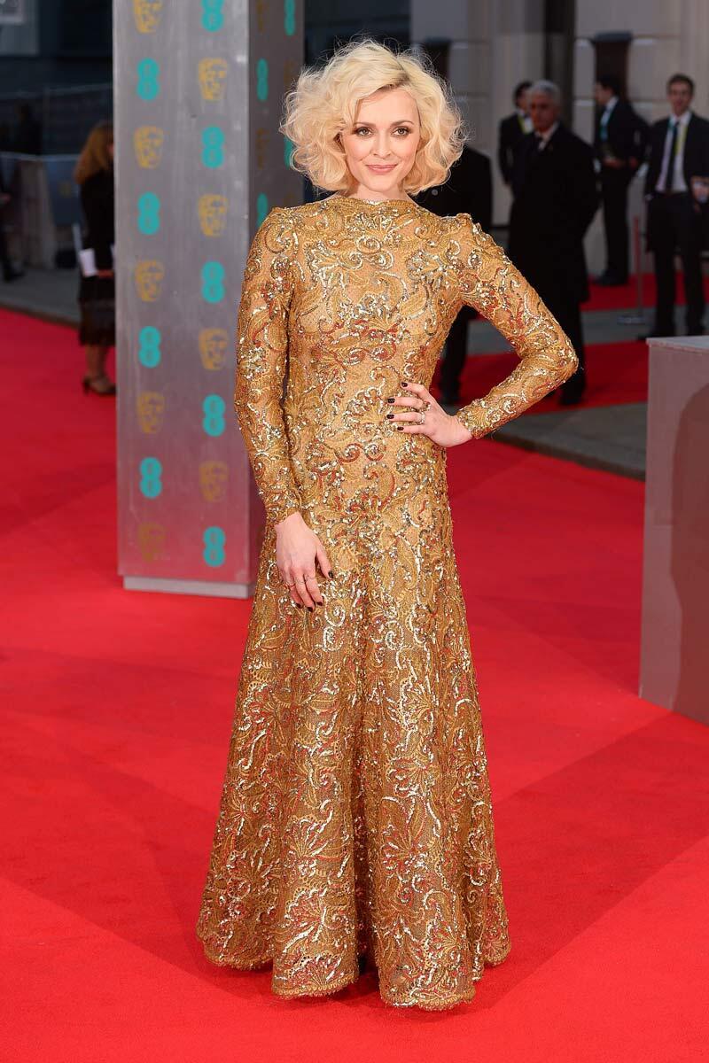 Fearne Cotton inaugura la red carpet de los #EEBAFTAs en Londres con un vestido de @WilliamVintage. It´s BAFTA time! http://t.co/o4m9jidRKN