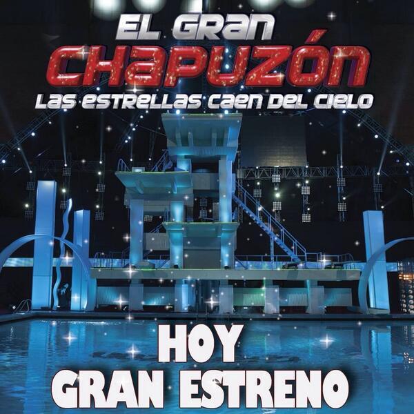 Hoy gran estreno @GranChapuzon no se lo pierdan 8pm por canal de las estrellas #DiversionTotal http://t.co/YXqX4ze76R