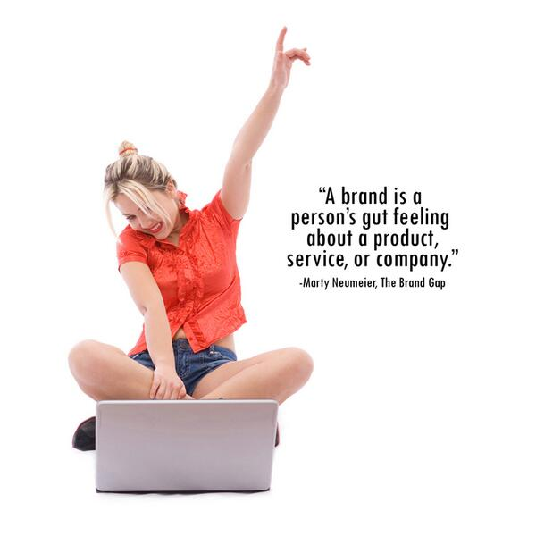 "Love this!  ""A BRAND is a person's gut feeling about a product, service, or company."" Marty Neumeier, The Brand Gap. http://t.co/xo4IUGNhuQ"