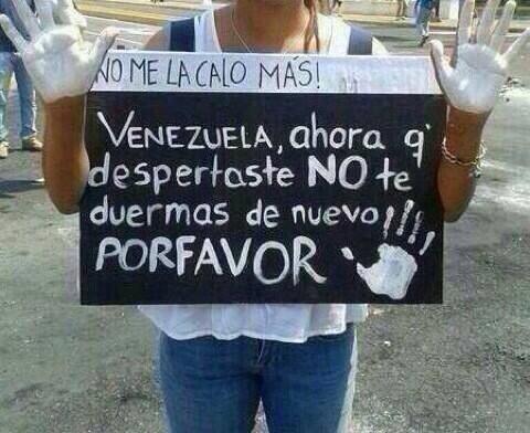No hay que dormirse. #SOSVenezuela http://t.co/tglmFzl1oY