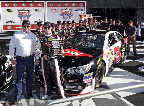 Congratulations to @AustinDillon3, the No.3 team and @RCRracing on winning the #Daytona500 pole! Ready to go racing! http://t.co/TlVvyCvTYC