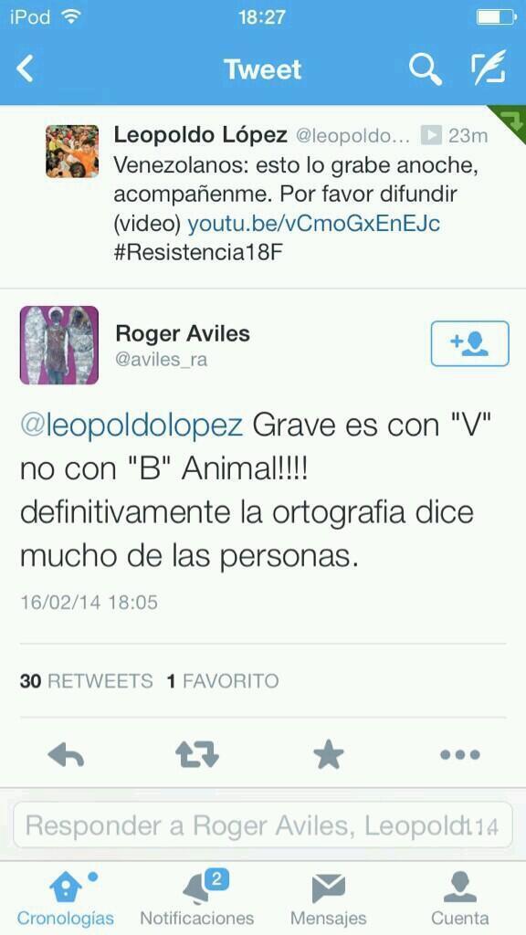 Clases de Español dada por maduristas AJAJAJAJAJAJ http://t.co/owD1eeRdtD