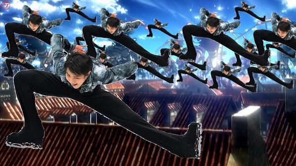 羽生結弦選手が進撃の巨人で戦っていた頃の画像ください http://t.co/duOkk1ob40
