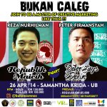 RT @mahasiswamlg: 26 April 2014 @bukansemnas seminar w/ @peter_says owner @petersaysdenim & @axltwentynine owner @infomaicih @ Sakri UB http://t.co/MxewjmIIpN