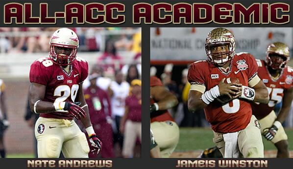 #Noles Nate Andrews and Jameis Winston named to 2013 All-ACC Academic Football Team http://t.co/AjTbNlEHhk