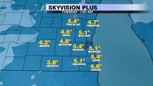 """Snowfall Potential.  Average accumulation of 4-6"""".  Some areas will likely see over 6"""". http://t.co/NnhsoljSW5"""