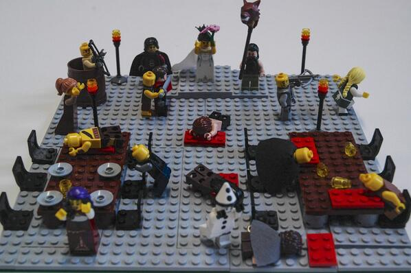 Waterstone's recreated the Red Wedding in Legos: http://t.co/A9ZzhQah1G