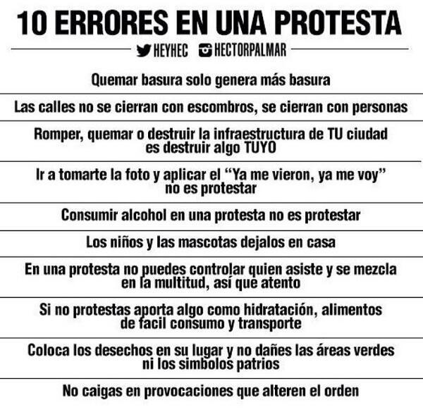 """Importante: Los diez errores de una protesta http://t.co/IWZSbrImEe"""""""""""
