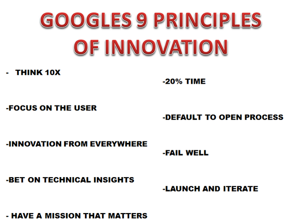 Taking a deeper look at #Google's Nine Principles of Innovation  http://t.co/GluUo9wdIA  #innovation http://t.co/dJy1Sp8Hwk