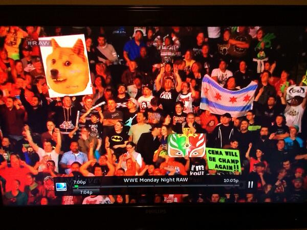 Doge during #RAW lol http://t.co/G6VRSY76RZ