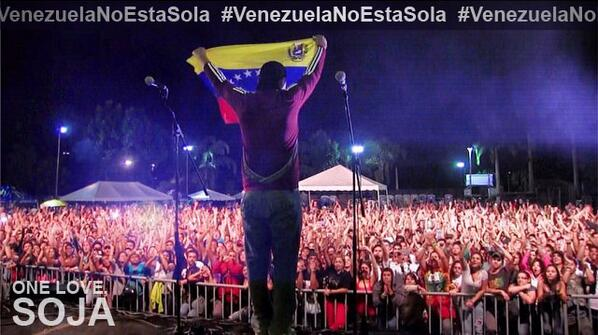 Venezuela, you are not alone! SOJA está contigo. #VenezuelaNoEstaSola http://t.co/7nTNOqhwdz – http://t.co/wB4UW3REga