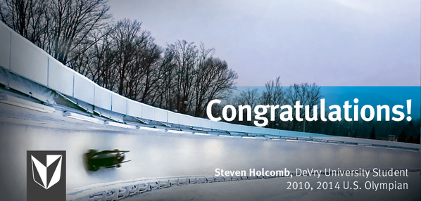 Retweet to congratulate DVU student @StevenHolcomb on his bronze medal in Bobsled Men's 2 man! http://t.co/P5s5uFMrxI