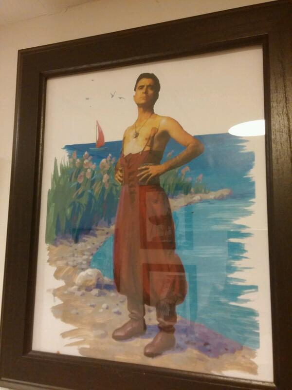 Ir a un baño en un restaurante ruso y encontrarte con una foto de... ORTEGA CANO. http://t.co/tmPU4LdL2Q