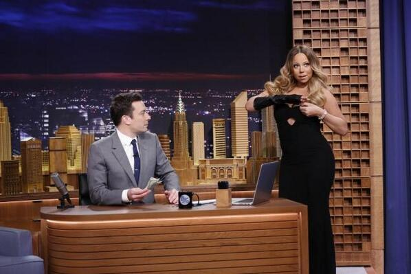 @MariahCarey on The Tonight Show #payup http://t.co/KUf3OXRRZY