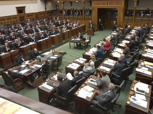 A rare moment of unanimity here: every single mpp votes to raise the rainbow flag at QP during #Sochi2014. #onpoli http://t.co/uqjq7gJJd4