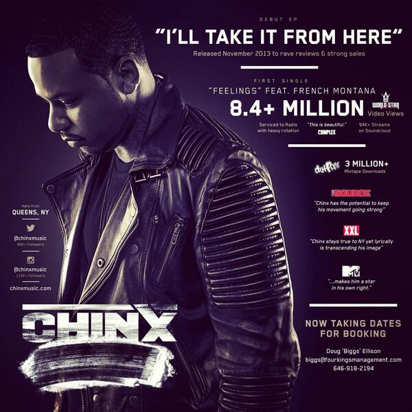 """""""@ChinxMusic: Let's Work! Booking contact in bio http://t.co/OJRZ9i0GLg"""""""