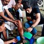 """@END_7: ambassador @juniorbachchan helps care for an elephantiasis (LF) patient in Orissa http://t.co/78hWha1lcY"