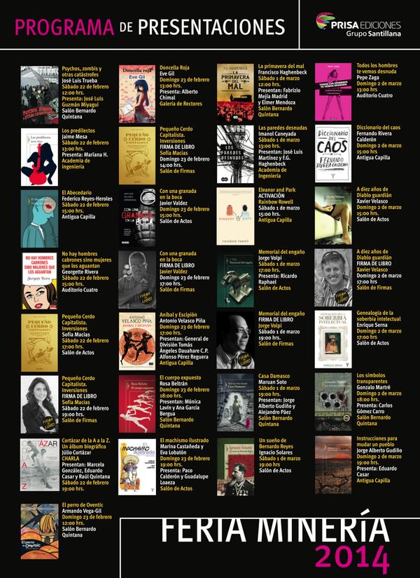 Se acerca La Feria Internacional del Libro en el Palacio de Minería. Aquí esta nuestro  calendario @FILMineria http://t.co/5I4u5aS4dq