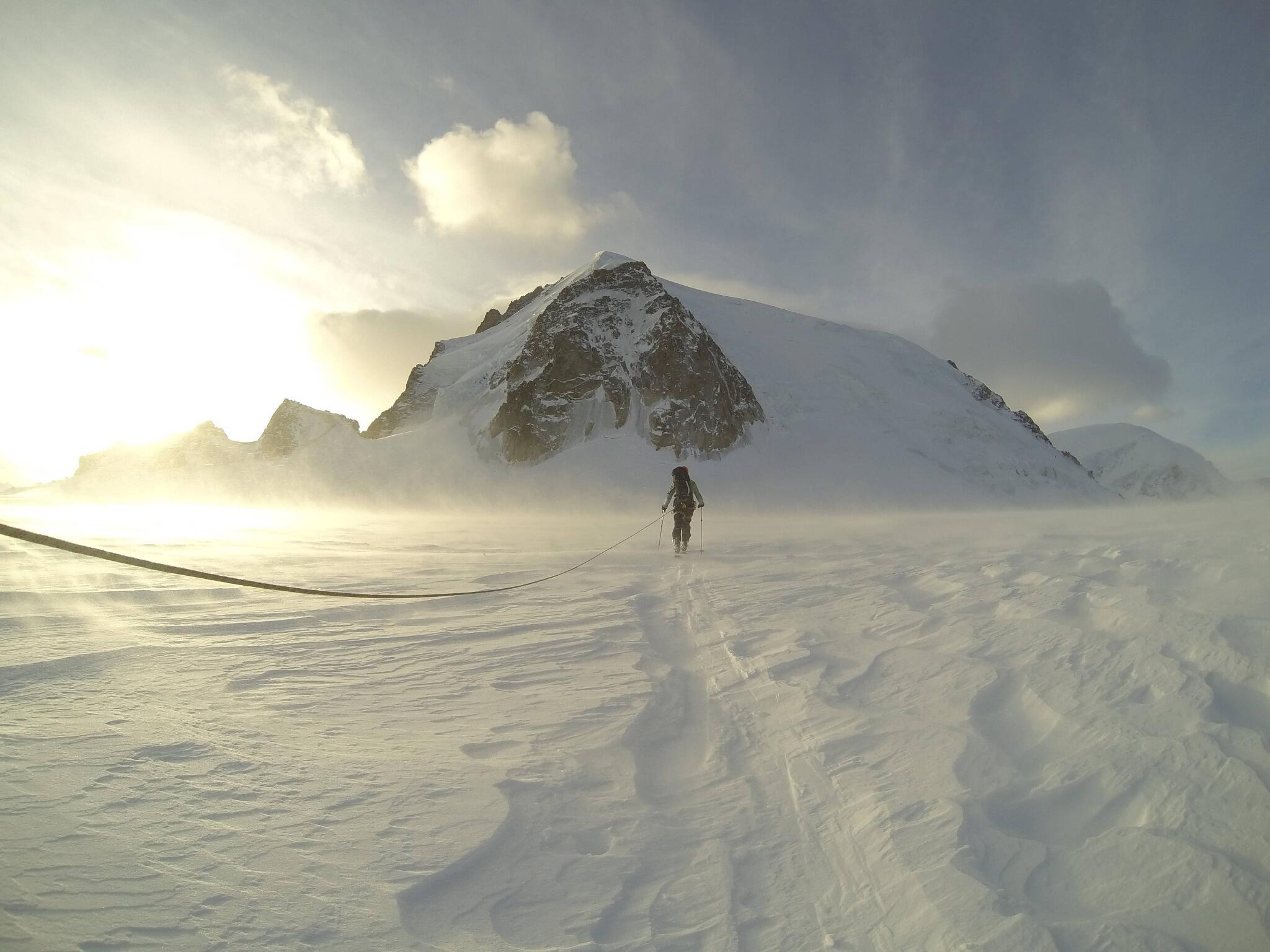 A cinematic moment, captured on Mont Blanc Massif with filmmaker @bjarnesalen and skier @ndreasfransson. http://t.co/cSpqgSKiIM