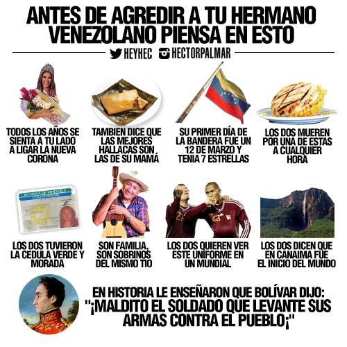 Ojalá esto le pase por la mente a aquel venezolano que piense en agredir a otro venezolano ¡Paz para #Venezuela! http://t.co/WN3vT43D3e
