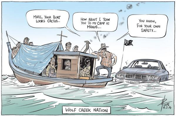 "Who are we now? ""@davpope: Wolf Creek Nation <my other cartoon today http://t.co/Lb85HAIXtI> http://t.co/MCJ0j3RndM"""