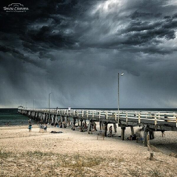 Amazing shot of the weather getting serious at #Grange beach in #Adelaide by jcpromotions (via Instagram) http://t.co/GrCSxEznrW