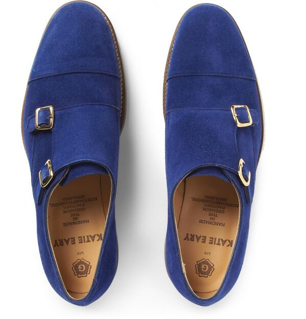 Blue. Suede. Monk-Strap. Gimme. Check out these @katieeary x @grensonshoes exclusive to @MRPORTERLIVE. | #menswear http://t.co/Ao2bRVblri