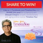 RT @Timeless_You: #GIVEAWAY - win the full #TimelessYou program for FREE! Share this on Facebook & 'like' http://t.co/EntB8hzD89 !