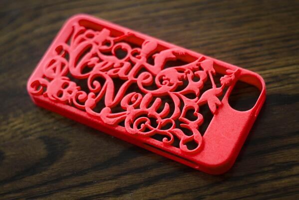 Red iPhone case #3DPrinted thanks to #Photoshop and #Shapeways. Comments: http://t.co/76HYc0sAKG http://t.co/FPXQdhiM3y