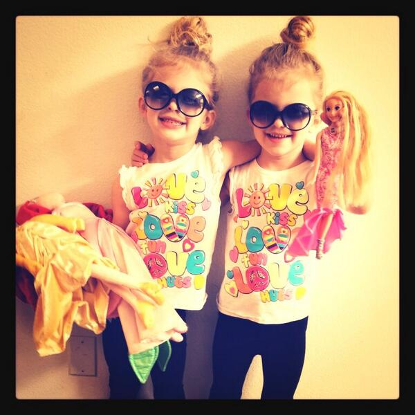 Thank you for all of the birthday wishes! The girls are having a blast being 4! #baylieandrylie http://t.co/pUNqs52KzN
