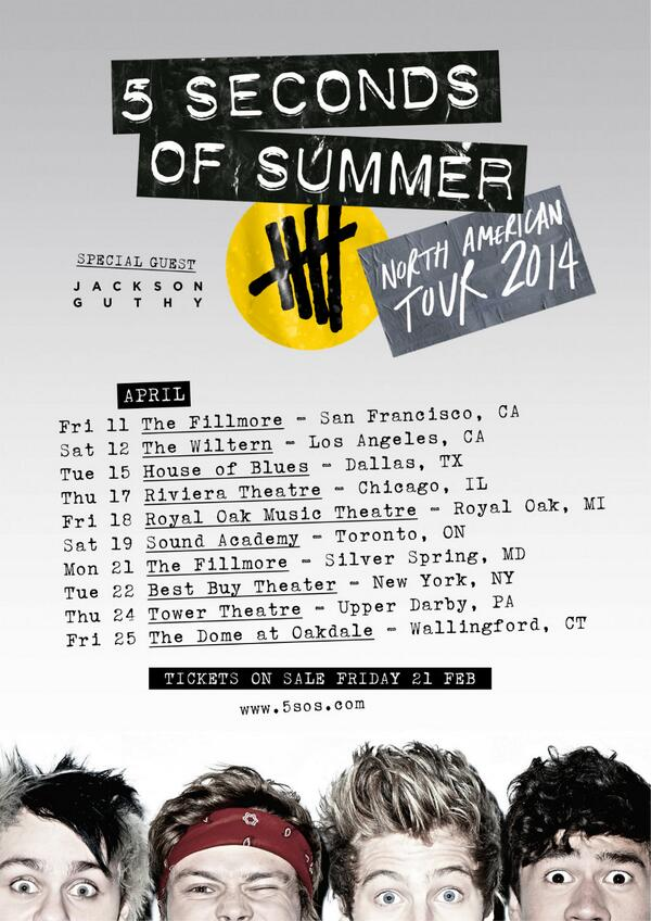 The Fillmore on 4/11 RT @5SOS USA, WE ARE TOURING IN APRIL!! onsale Friday 5pm :-) X #STARSSTRIPESANDMAPLESYRUP http://t.co/hQdB7shqzt