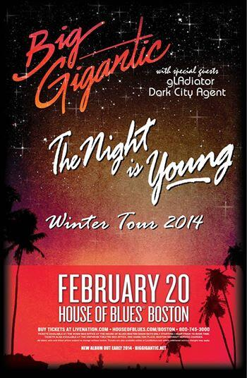 We are giving away tickets to @BigGigantic 's Boston @HOBBoston LIKE and share and you could win :) #freestuff http://t.co/Z4SySxanBF