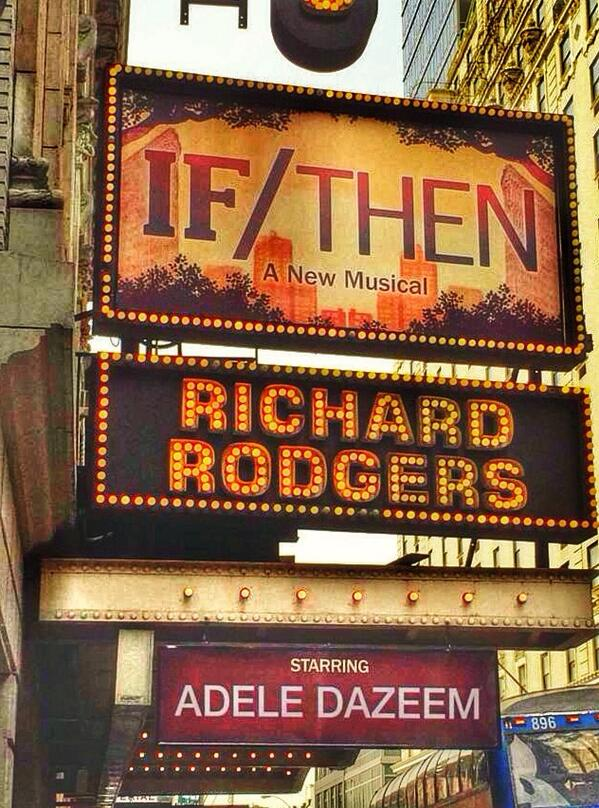 The Broadway producers of @IfThenMusical have replaced lead @idinamenzel with @AdelaDazeem http://t.co/5anYAgQckZ