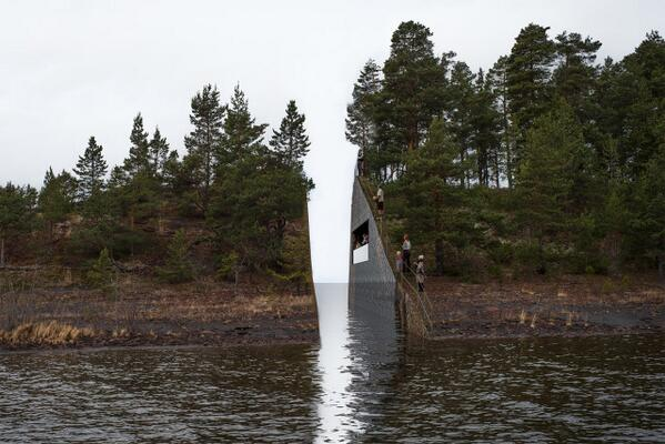 This is amazing. RT @JonnyGeller Norway's memorial to the Utoya massacre is breathtaking http://t.co/aOlMT3xxkR http://t.co/eZTsX3gU8E … …