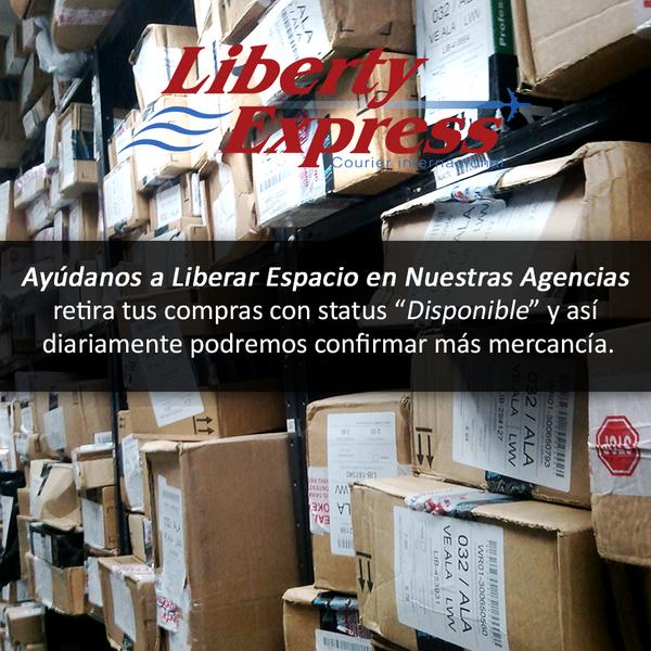 Liberty Express (@LibertyExpress): ¡Con tu ayuda podremos liberar espacio en tu agencia receptora…! #ContamosContigo http://t.co/fkCCCuCtO1