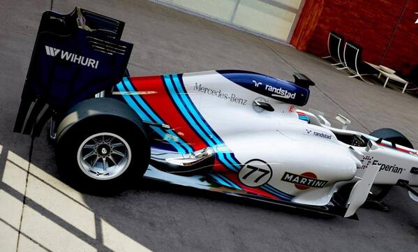 Check out the #F1 #Williams #Martini livery for 2014 #Formula1 http://t.co/s8fZkdsev8
