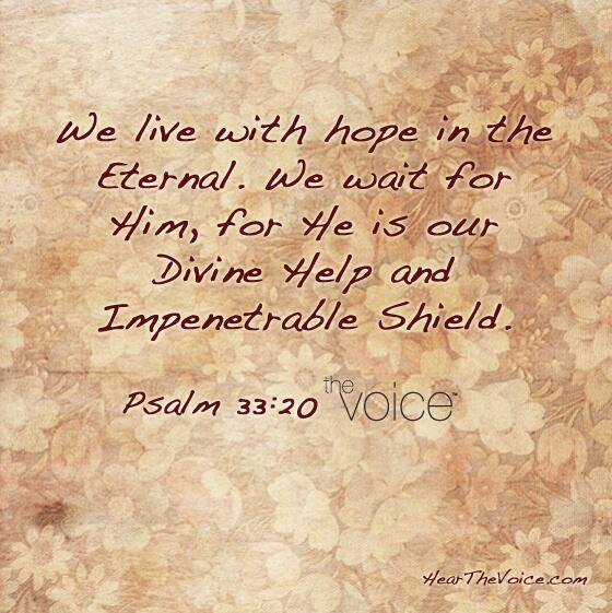 We live with hope in the Eternal! http://t.co/NMV8FE0DQD