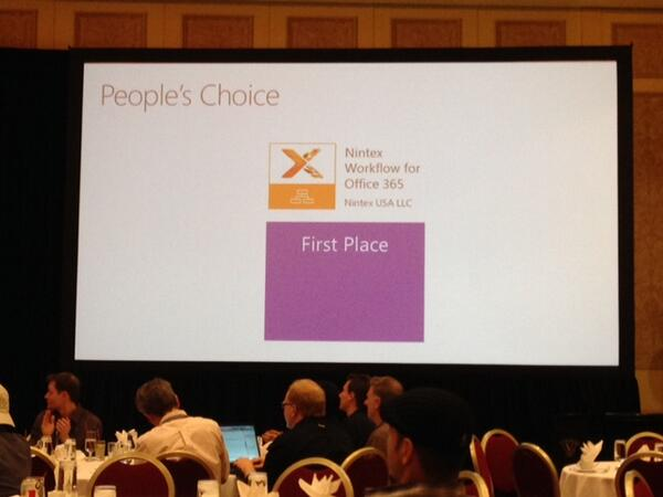 2014 App Awards People's Choice winner: @Nintex Workflow for #Office365 http://t.co/1nrqZjbc7u #SPC14 http://t.co/l2WArwnfuD