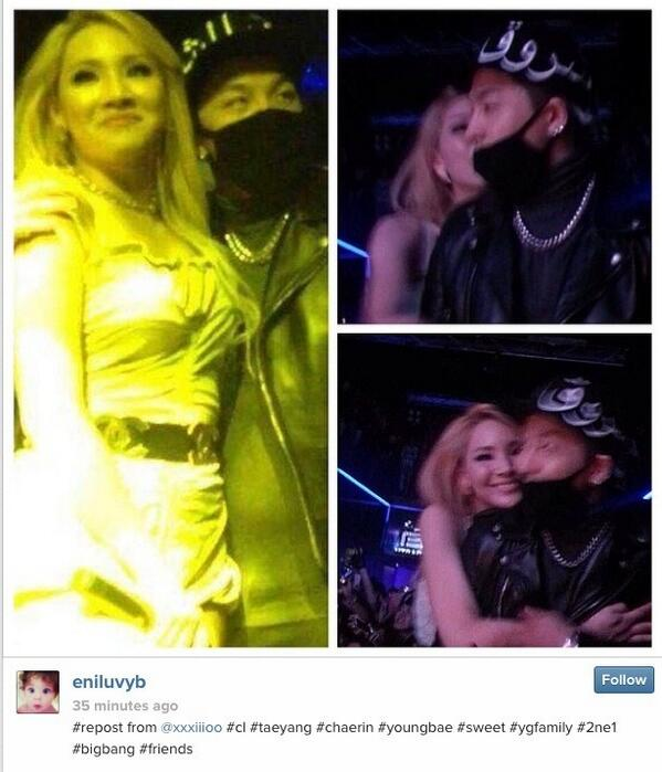how cute!! RT @NikkiBAEBY: OH GOD CL kissed YB during the after party. OMG #BYE #ENVYYYYY http://t.co/7LP3yXvfTY