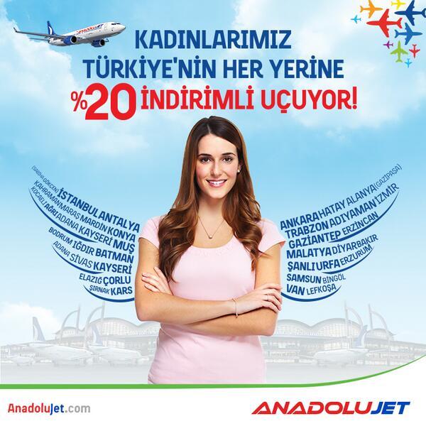 3-4-5 Mart tarihlerinde bilet alan kadın yolcularımız %20 indirimli uçuyor! Bilet almak için: http://t.co/l8CuJUnv2P http://t.co/VoXORfu6hK