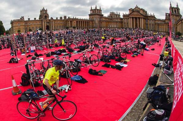 Transition at Blenheim Palace Triathlon
