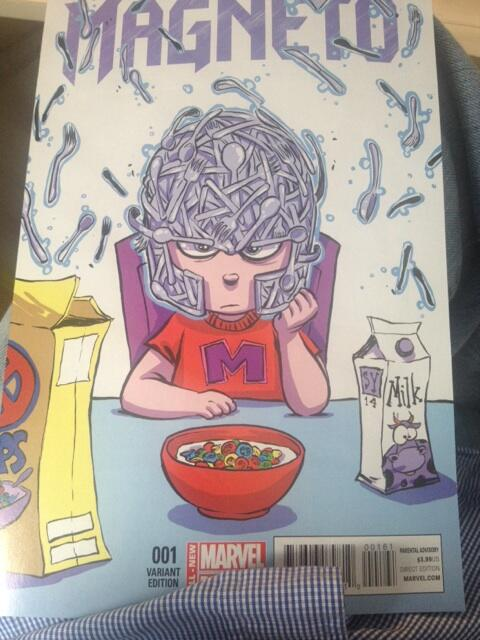 Magneto is now the Punisher of mutants. Great new direction by @cullenbunn  Hilarious @skottieyoung cover too. http://t.co/aGtzRxoA5h