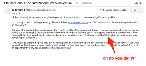 Up there with the worst recruitment spam: @staunchrobots http://t.co/b0r9ytOyk9