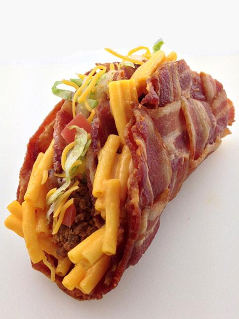[NEW POST] The Double Decker Mac & Cheese Stuffed Bacon Weave Taco http://t.co/tPXwCwHBXS http://t.co/CEAmP2ehiB